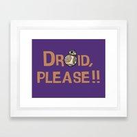 Please!! Framed Art Print