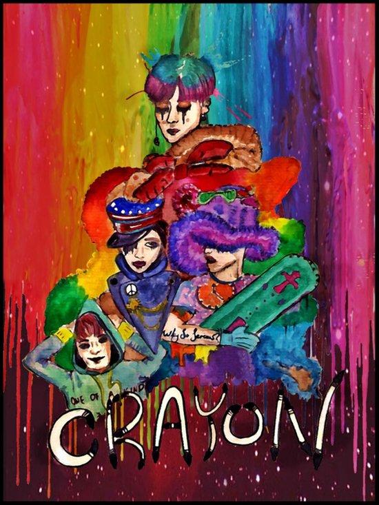 G-Dragon Crayon Art Print