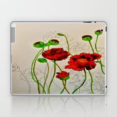 Very Red Flowers Laptop & iPad Skin