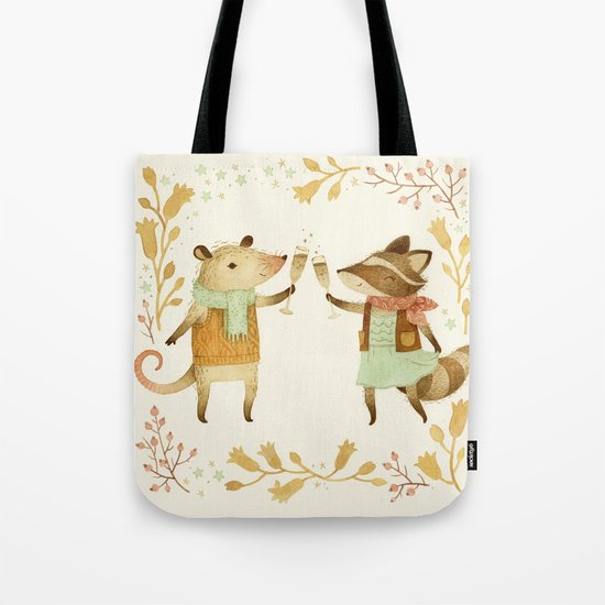 Cheers! From Pinknose the Opossum & Riley the Raccoon Tote Bag