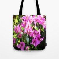 Purple Pink Bougainvillia In Blossom  Tote Bag