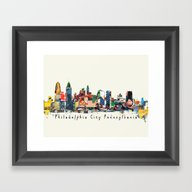 Philadelphia Skyline Com… Framed Art Print