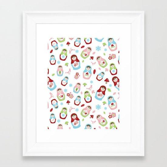 Matryoshka - Seasons Framed Art Print
