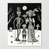 Family Portrait of the Passed Canvas Print