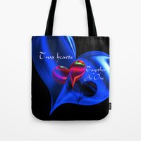 Two Hearts Together As One Tote Bag