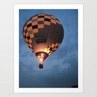 Night Time Flight Art Print