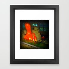 Alien Bob Goes To The Movies Framed Art Print