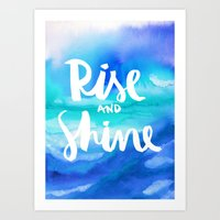Rise And Shine - Collaboration by Jacqueline Maldonado and Galaxy Eyes Art Print