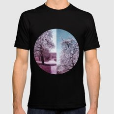 BLOOMING TIME Black SMALL Mens Fitted Tee