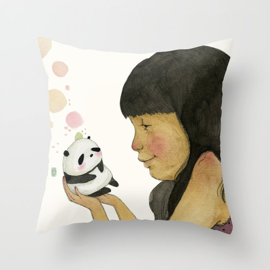 I adore you, baby Throw Pillow