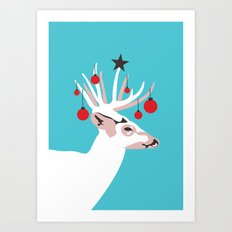 Deer with Cheer Art Print