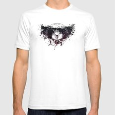 Inked Parasite White Mens Fitted Tee SMALL