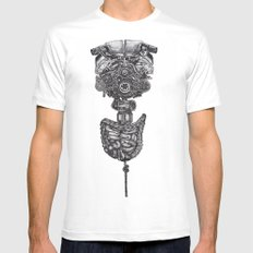 Machine Mens Fitted Tee SMALL White