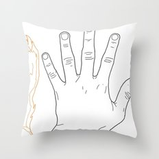 Hands are all the same Throw Pillow