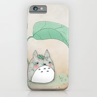 iPhone & iPod Case featuring Floral Totoro by munieca
