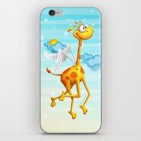 Fly Giraffe fly iPhone & iPod Skin