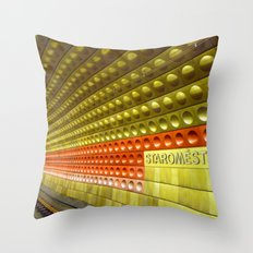 Train to Prague Throw Pillow