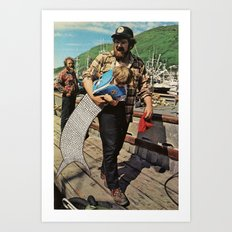 The Life and Death of the Fisherman's son. Art Print