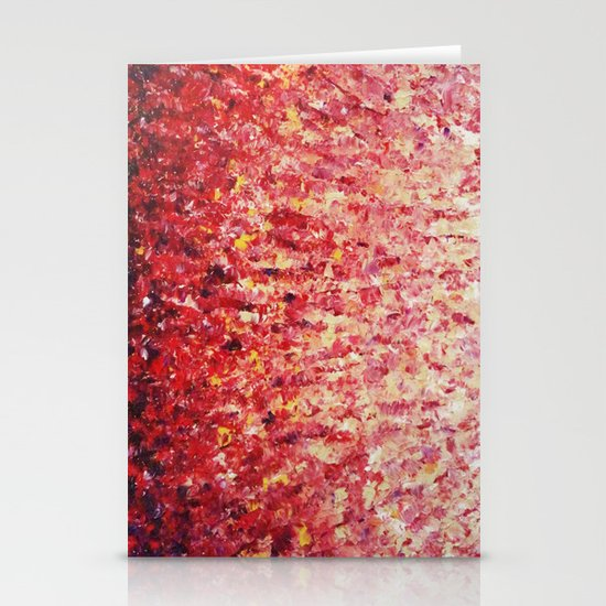 HYPNOTIC SUNRISE - Stunning Sunrise Sunset Pink Magenta Peach Crimson Bright Red Cream Stationery Card