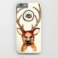 iPhone & iPod Case featuring All-seeing Deer by Ellie Craze