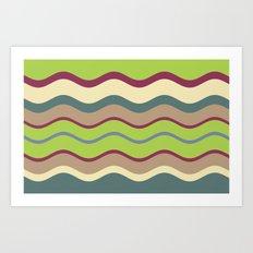 Appley Wave Art Print