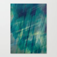 Submerge Aqua Canvas Print