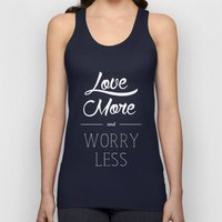 Love More & Worry Less Typography Unisex Tank Top