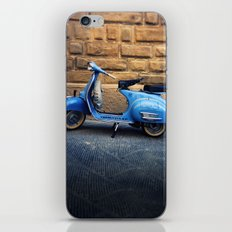 Blue Vespa, Italy iPhone & iPod Skin