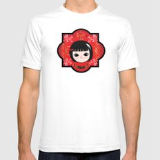 The Lunar New Year-Little girl Mens Fitted Tee SMALL White
