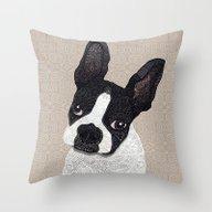 Boston Terrier 2015 Throw Pillow