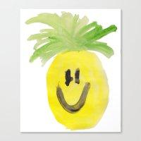 Just Mr. Pineapple Canvas Print