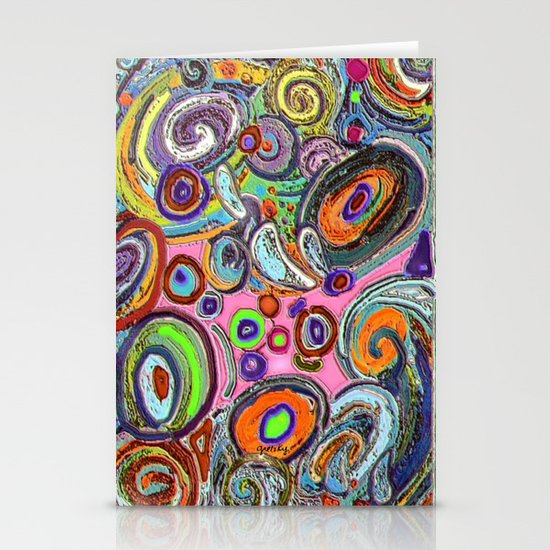Abstracto Rocoso Stationery Card
