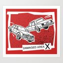 Left Car, Right Car Art Print
