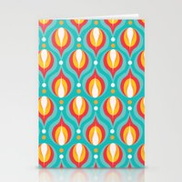 Colorful Dewdrops Stationery Cards
