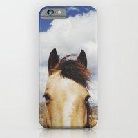 Cloudy Horse Head iPhone & iPod Case