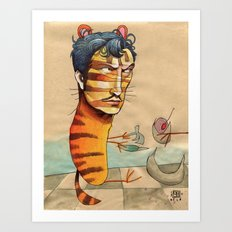 EASY, TIGER Art Print