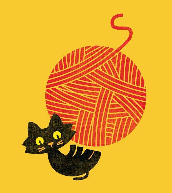 Fitz - Happiness (cat and yarn) Art Print