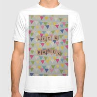 Lets Party Mens Fitted Tee White SMALL