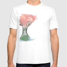 Tree of Autumn Mens Fitted Tee SMALL White