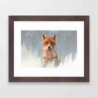 Vanishing Fox Framed Art Print