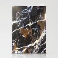 Stylish Polished Black M… Stationery Cards