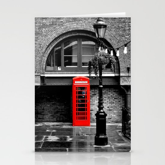 Red phone box Stationery Card