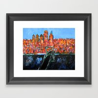 Philly Skyline View From… Framed Art Print