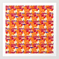 Oranja Plaid Art Print