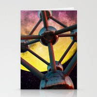 Atomium In Space Stationery Cards