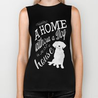 Home With Dog Biker Tank
