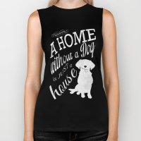 Home with Dog Biker Tank