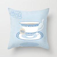 Royal Tea Throw Pillow
