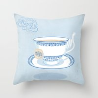 Royal Tea Throw Pillow
