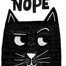 Art Print - nope kitty - Matthew Taylor Wilson